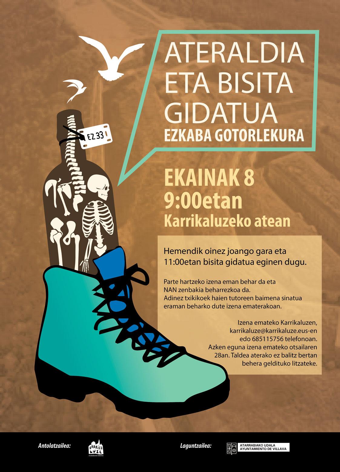ATERALDIA ETA BISITA GIDATUA EZKABAKO GOTORLEKURA @ KARRIKALUZE ELKARTETIK ABIATUTA.