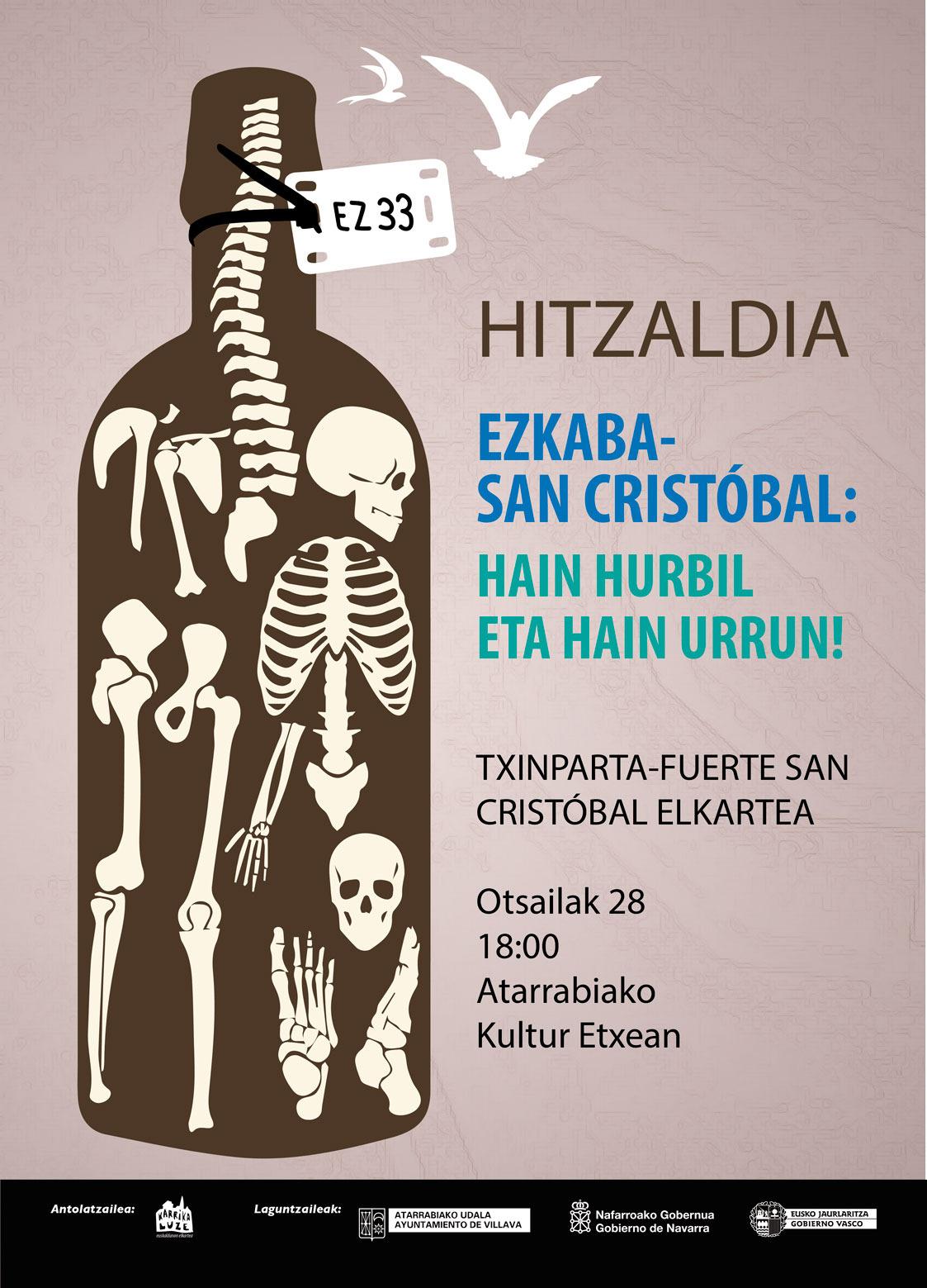 EZKABA-HAIN HURBIL ETA HAIN URRUN-HITZALDIA @ ATARRABIAKO KULTUR ETXEAN