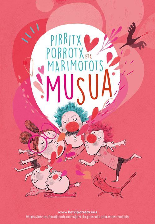 """Pirritx, Porrotx eta Marimotots - """"Musua"""" Lodosako Kultur etxean. Korrika Kulturala @ Lodosako Kultur Etxea"""