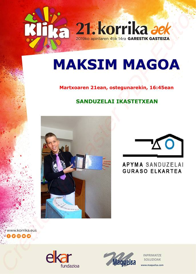 Maksim Magoa. Korrika Kulturala @ Sanduzelai Ikastetxean