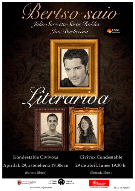 BERTSO SAIO LITERARIOA Julio Soto, Sarai Robles, Jon Barberena @ Kondestable Civivoxa