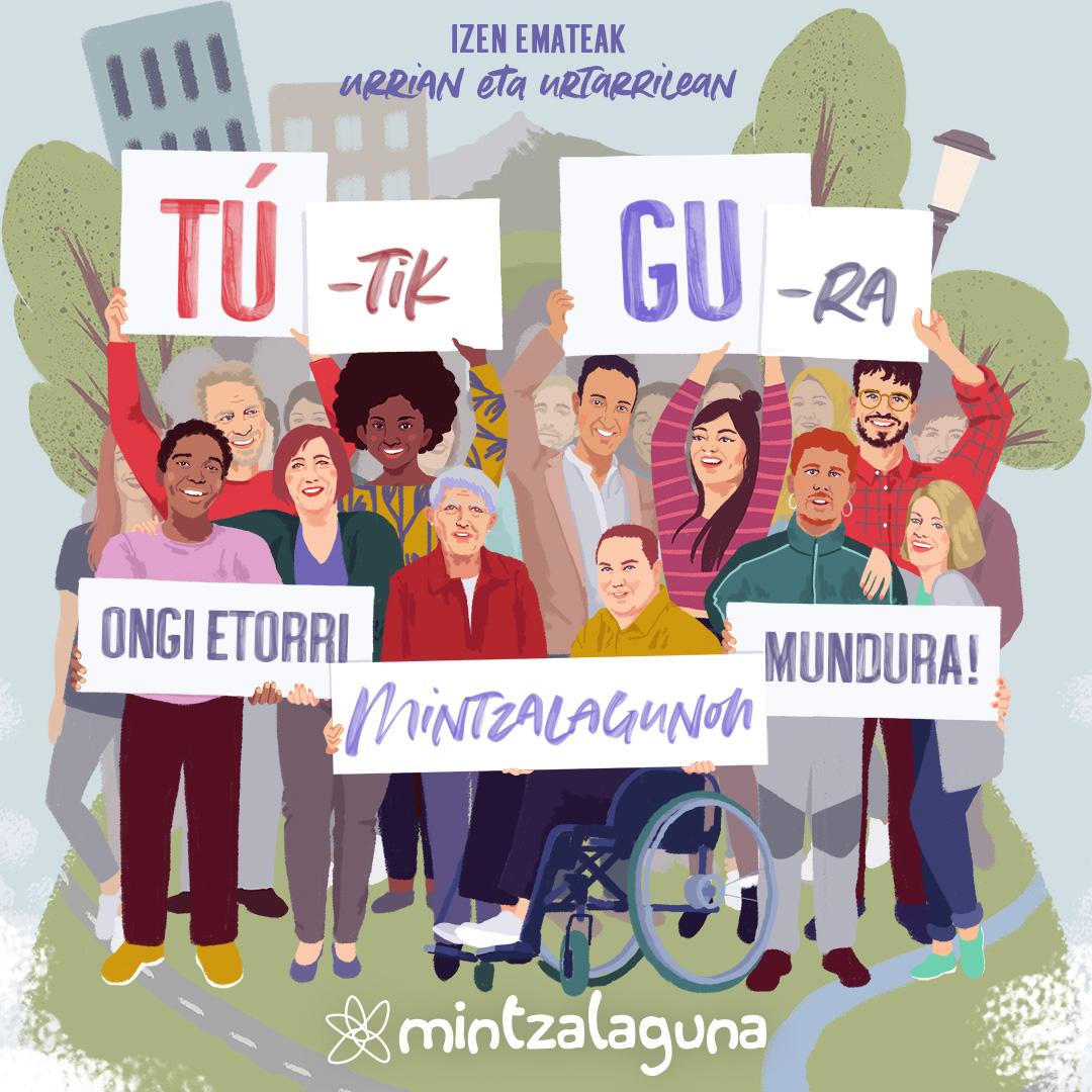 TÚ-tik GU-ra ONGIETORRI MINTZALAGUNON MUNDURA!  Izen-emate epea zabalik urriaren 28a arte!!!