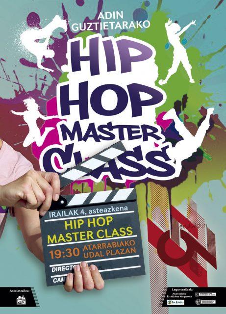 HIP HOP MASTER CLASS! Atarrabiako euskaldunON astea @ Atarrabiako Udal Plazan.