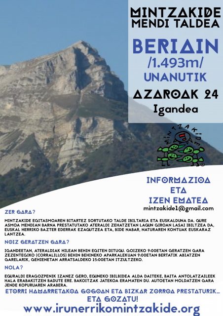 Beriain (1.493m). Mintzakide Mendi taldea