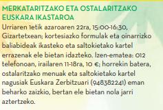 MERKATARITZAKO ETA OSTALARITZAKOEUSKARA IKASTAROA @ Gizartetxea.Antsoain