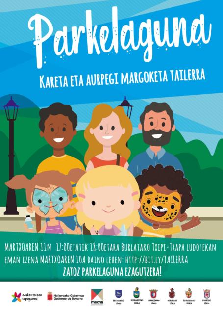 Parkelaguna- Kareta eta aurpegi margoketa tailerra. @ Txipi-Txapa ludoteka. Burlata.