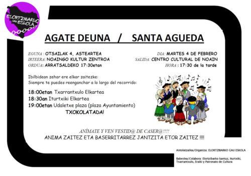 Santa Ageda Noain-Elortzibar @ Noaingo Kultur Zentrutik abiatuta.