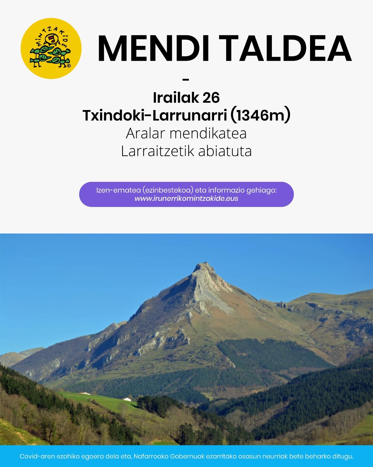 Txindoki-Larrunarri (1346m)