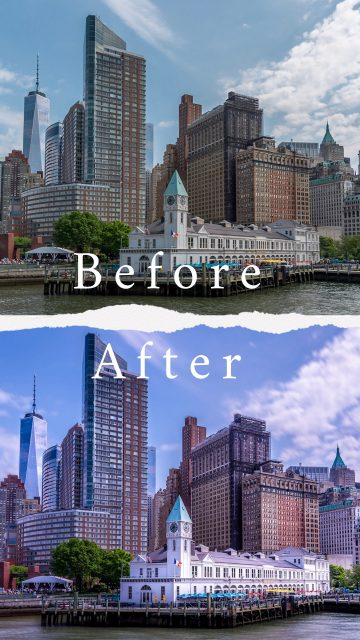 Before & After : New York - Manhattan