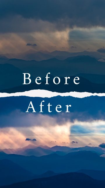 Before & After : Aerial photography