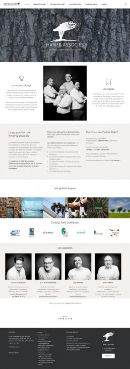 Site Harp page accueil