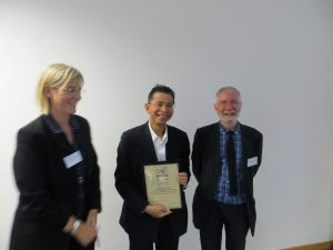 Prof Ho Law receiving his ISCP Fellowship Award, 12th October, 2018