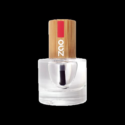 Viser neglelakk beholder med Duo Base & Top Coat fra ZAO