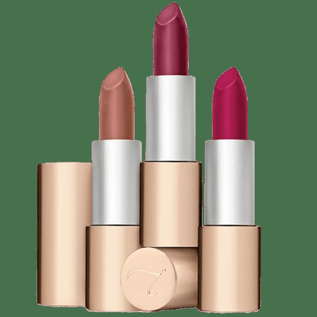 Viser tre leppestifter fra Jane Iredale