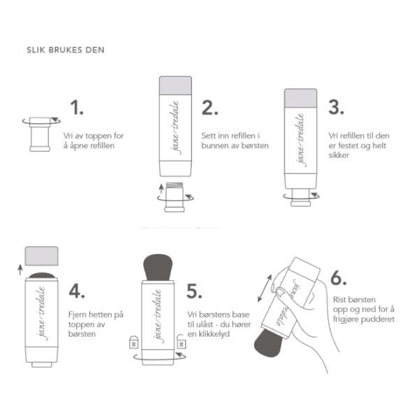 Viser hvordan du fyller børsten med refills