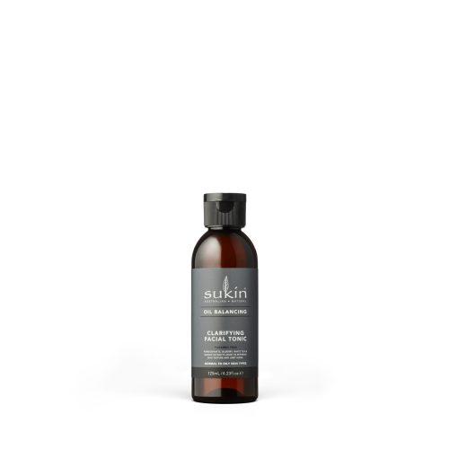 Viser svart flaske med Clarifying Facial Tonic fra Sukin