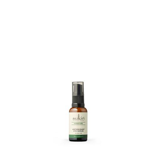 Viser glassflaske med pipet som inneholder Antioxidant Eye Serum