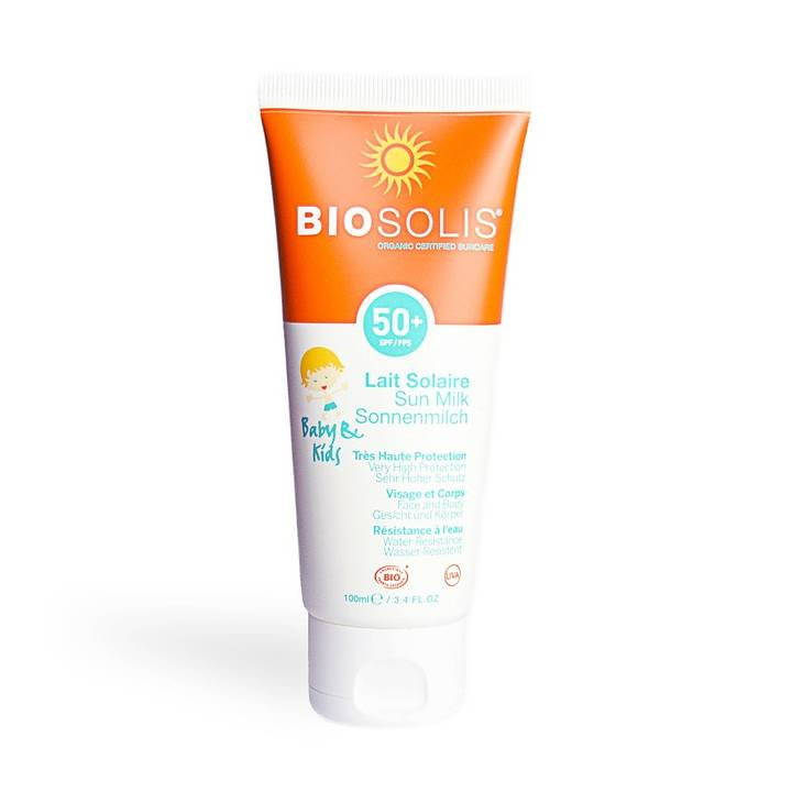 Viser tuben med Sun Milk SPF50