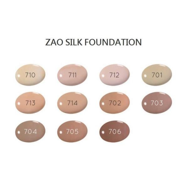 Zao Silk Foundation farge kart