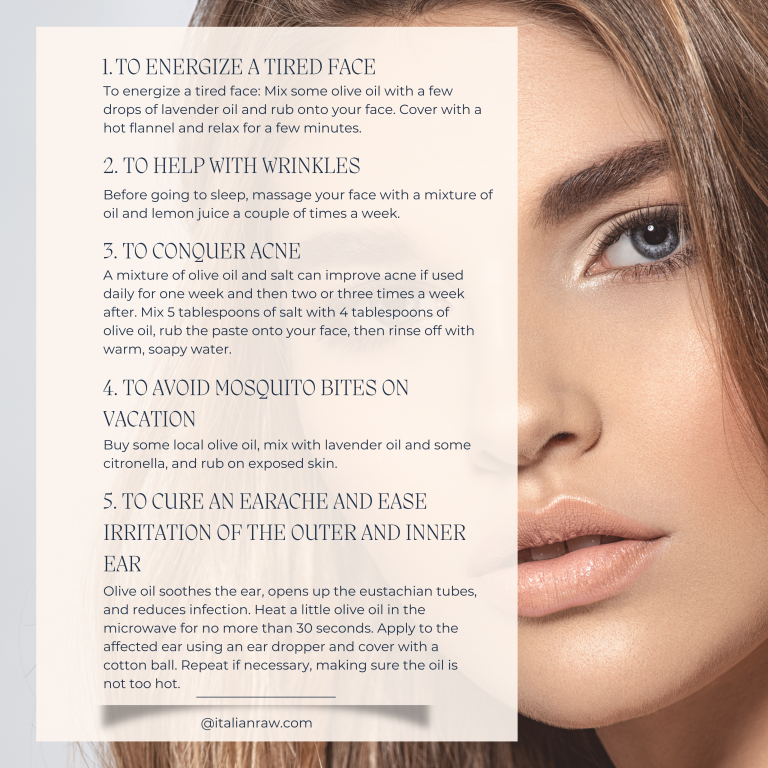 olive oil and beauty tips