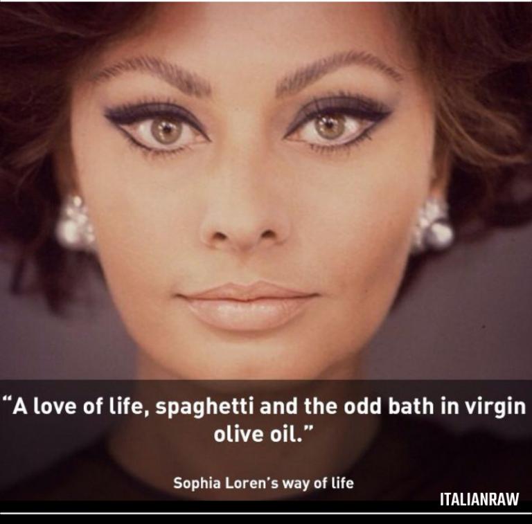 sofia loren secrets and olive oil
