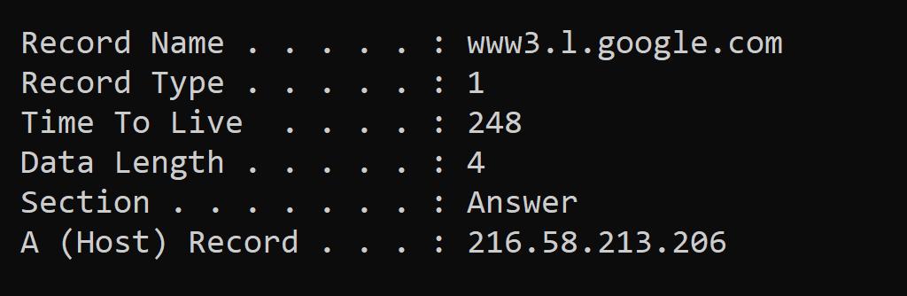 DNS ipconfig displaydns it made easy