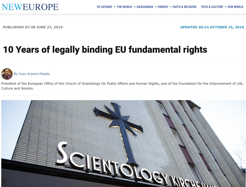 "Article by Ivan Arjona Pelado in ""New Europe"""
