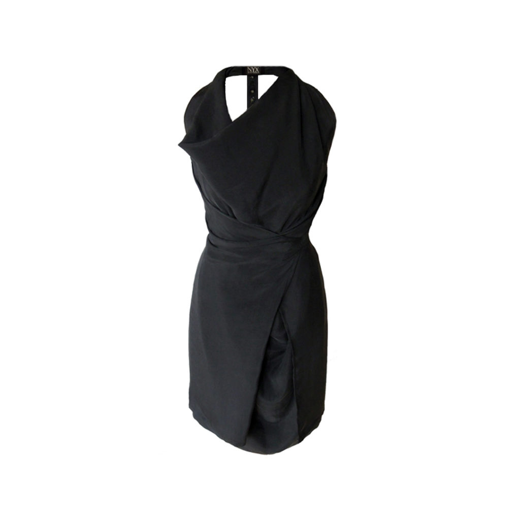 Nyx Wrap Silk Dress @ Dressing