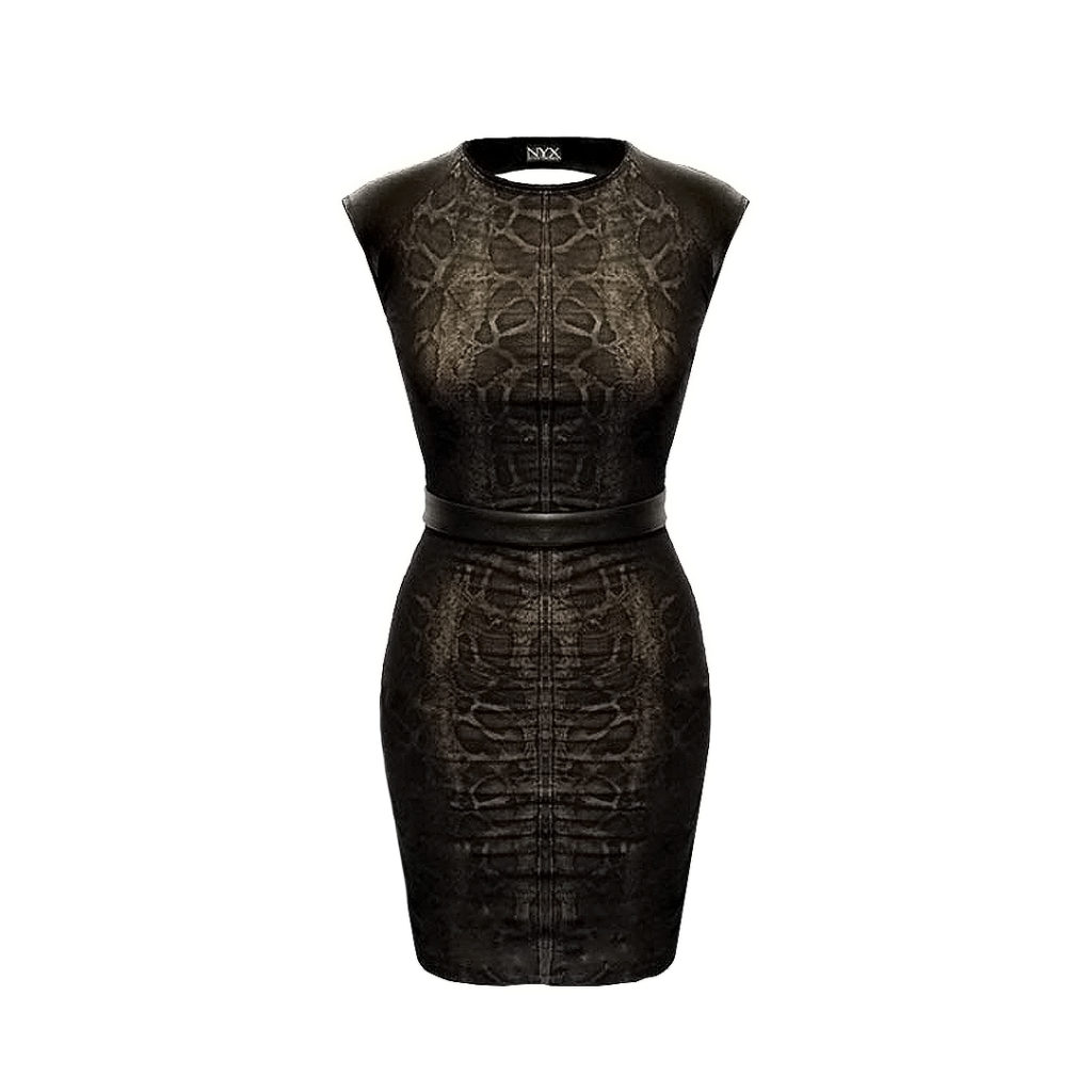 Nyx Sepia Python mini dress @Dressing
