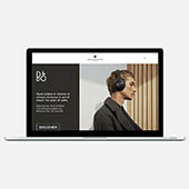 Bang Olufsen website and webshop Ja-da