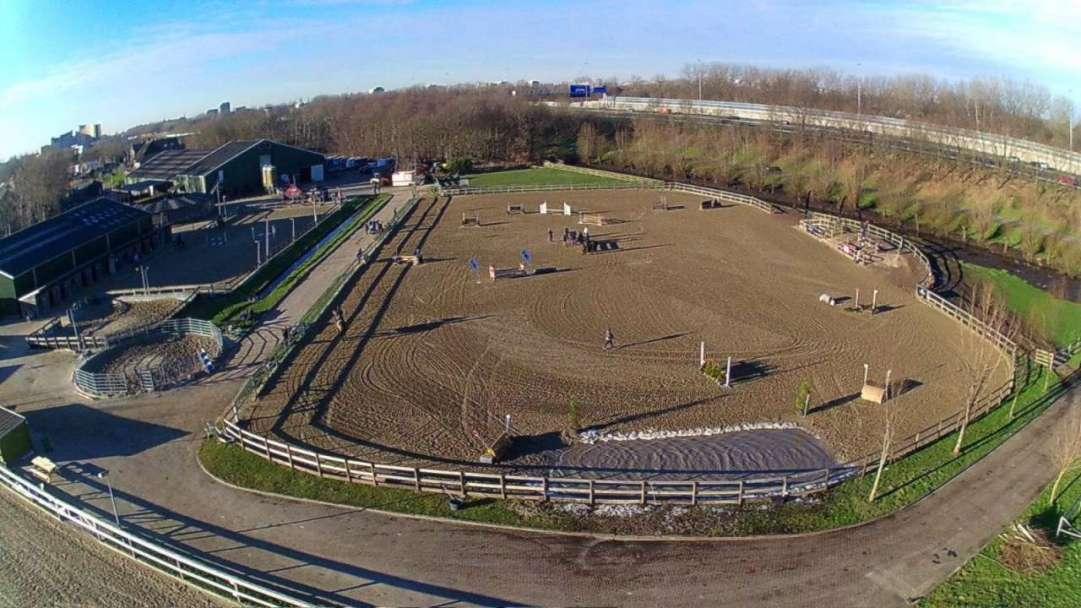 airial Drone shot Training Center