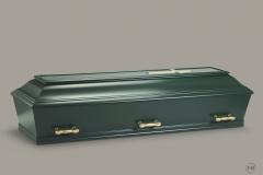 Kiste, grøn/guld m. let buet låg nr. 15