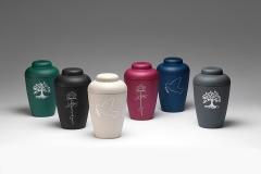 Ø-urne hvid med due