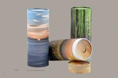 Tube-urner med motiver