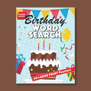 Birthday Word Search 1 - Easy Word Search for people living with dementia - Freedom Puzzles