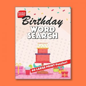 Birthday Word Search 3 - Easy Word Search for people living with dementia - Freedom Puzzles