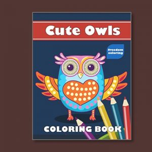 Cute Owls - Easy Coloring Books for people living with dementia - Freedom Coloring