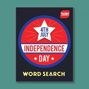 Independence Day - Easy Word Search for people living with dementia - Freedom Puzzles