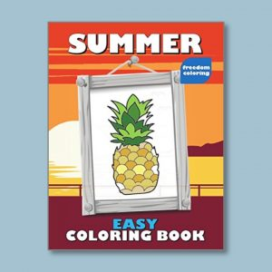 Summer - Easy Coloring Books for people living with dementia - Freedom Coloring