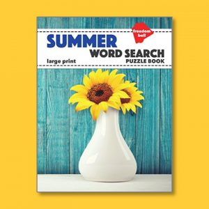 Summer Word Search - Easy Word Search for people living with dementia - Freedom Puzzles