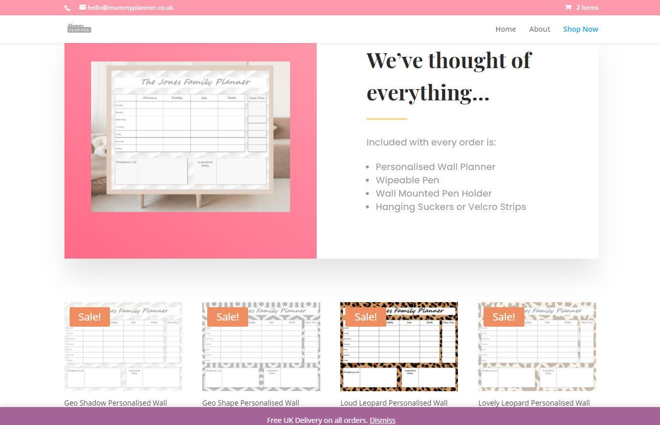 Mummy Planner Website