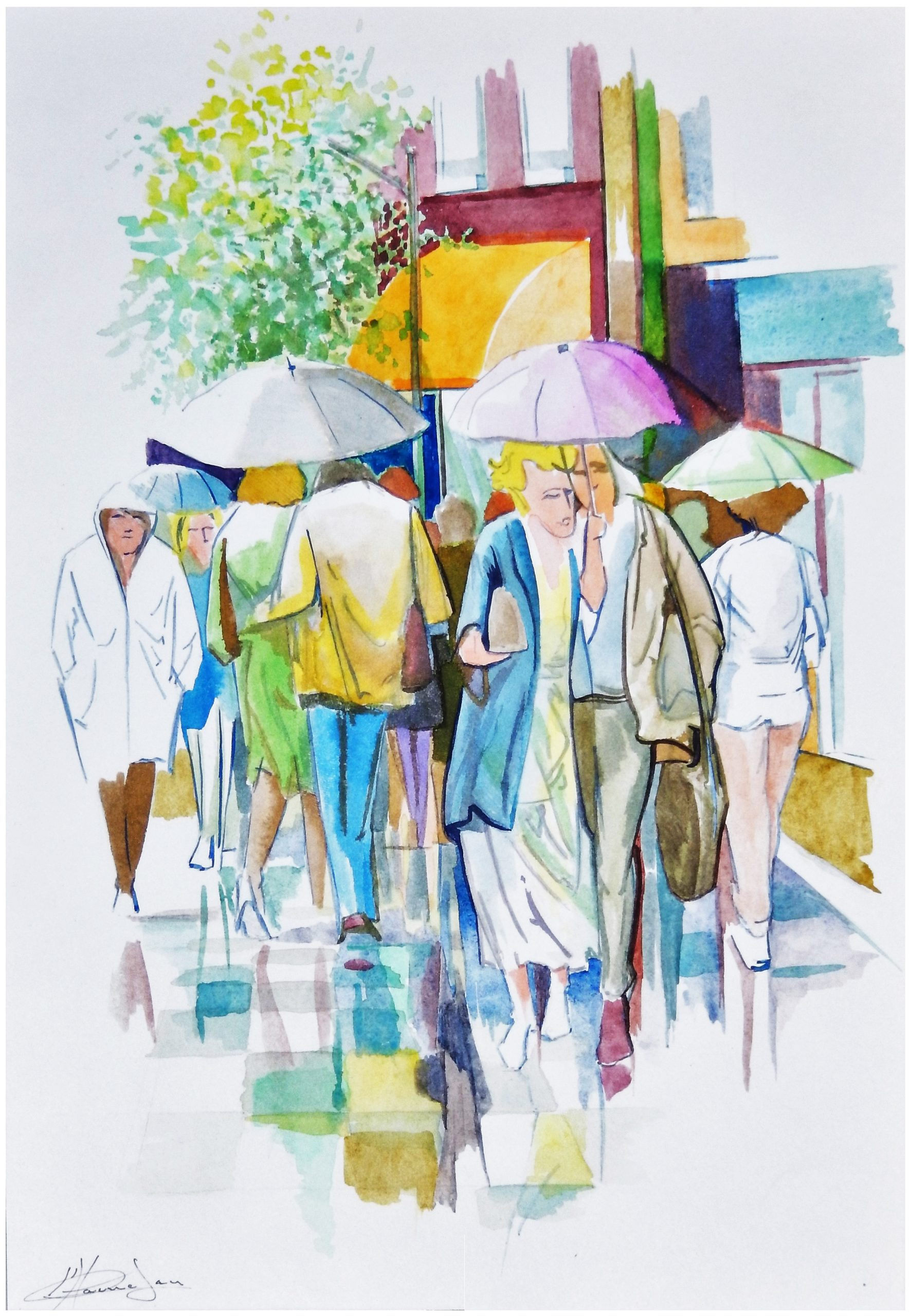 323 regen in de stad