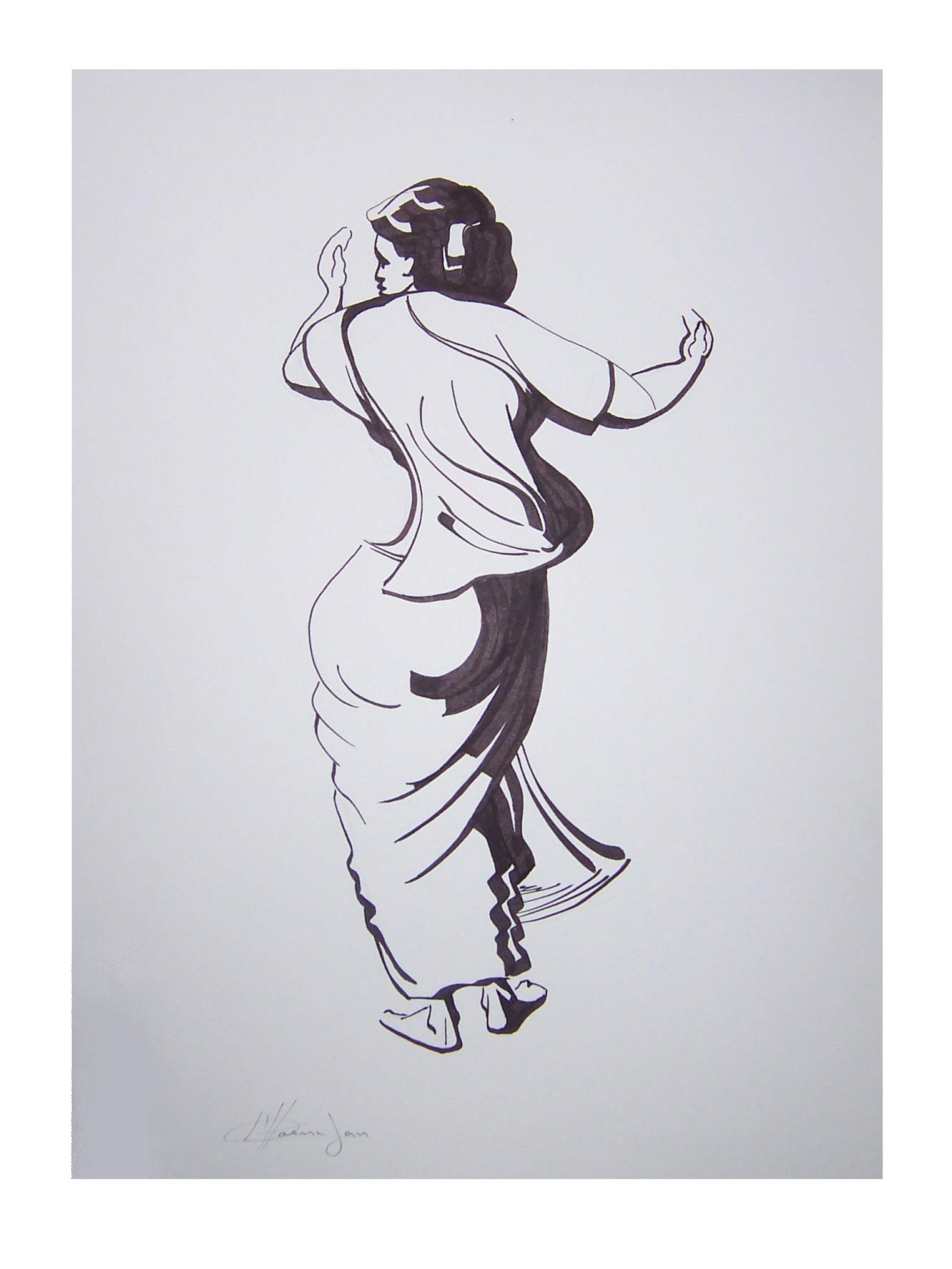 580. Sega dansende vrouw