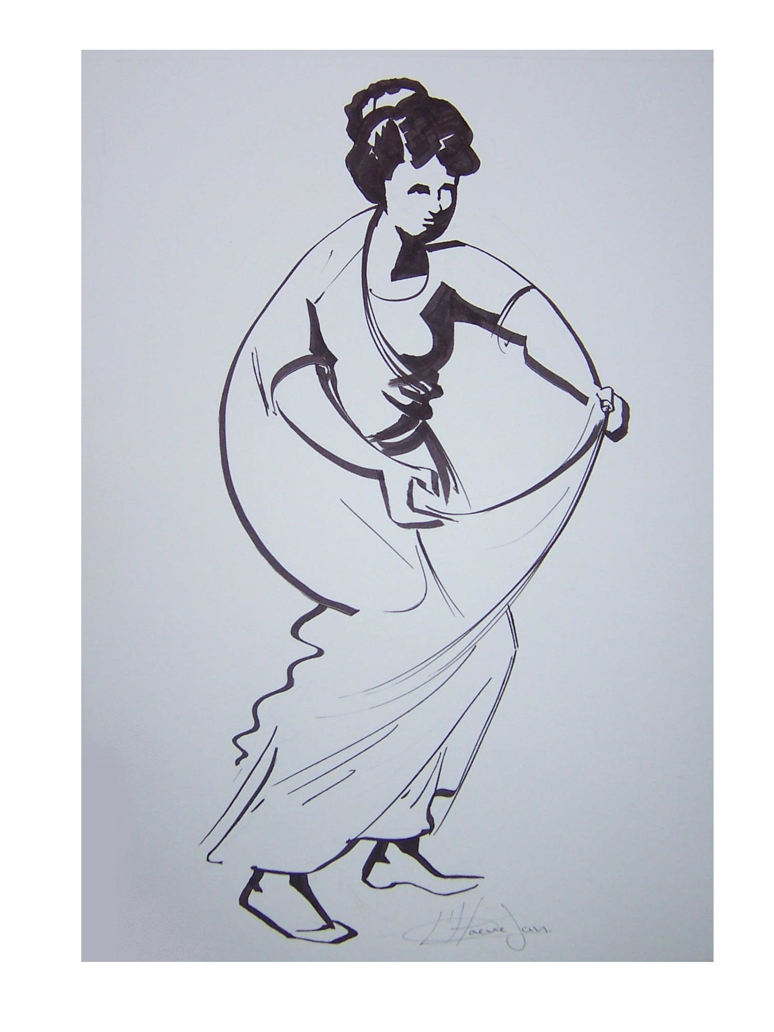 581. Sega dansende vrouw