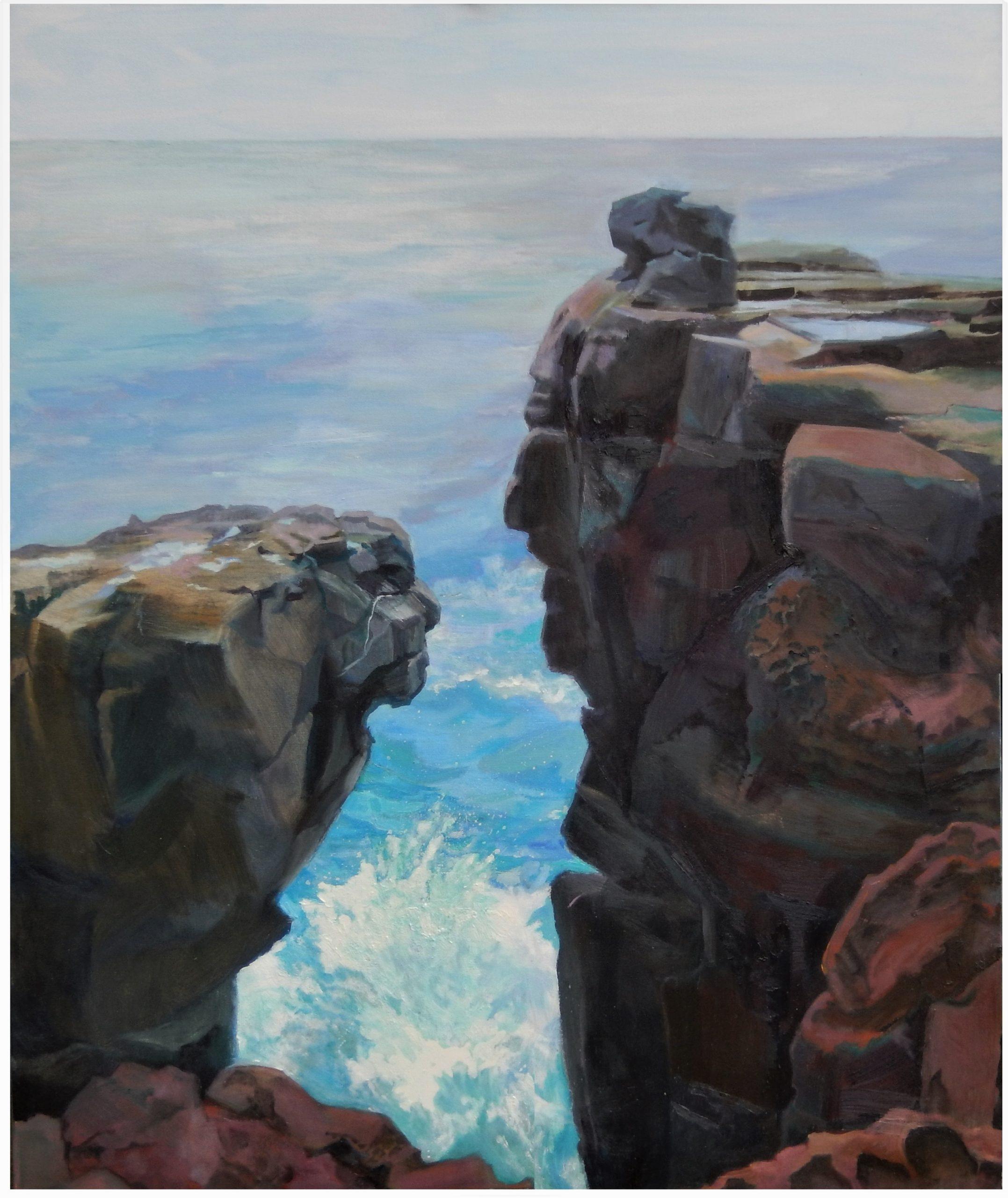 651 Roche ki plèr, natuurstudie – olieverf op doek – 120 x 100