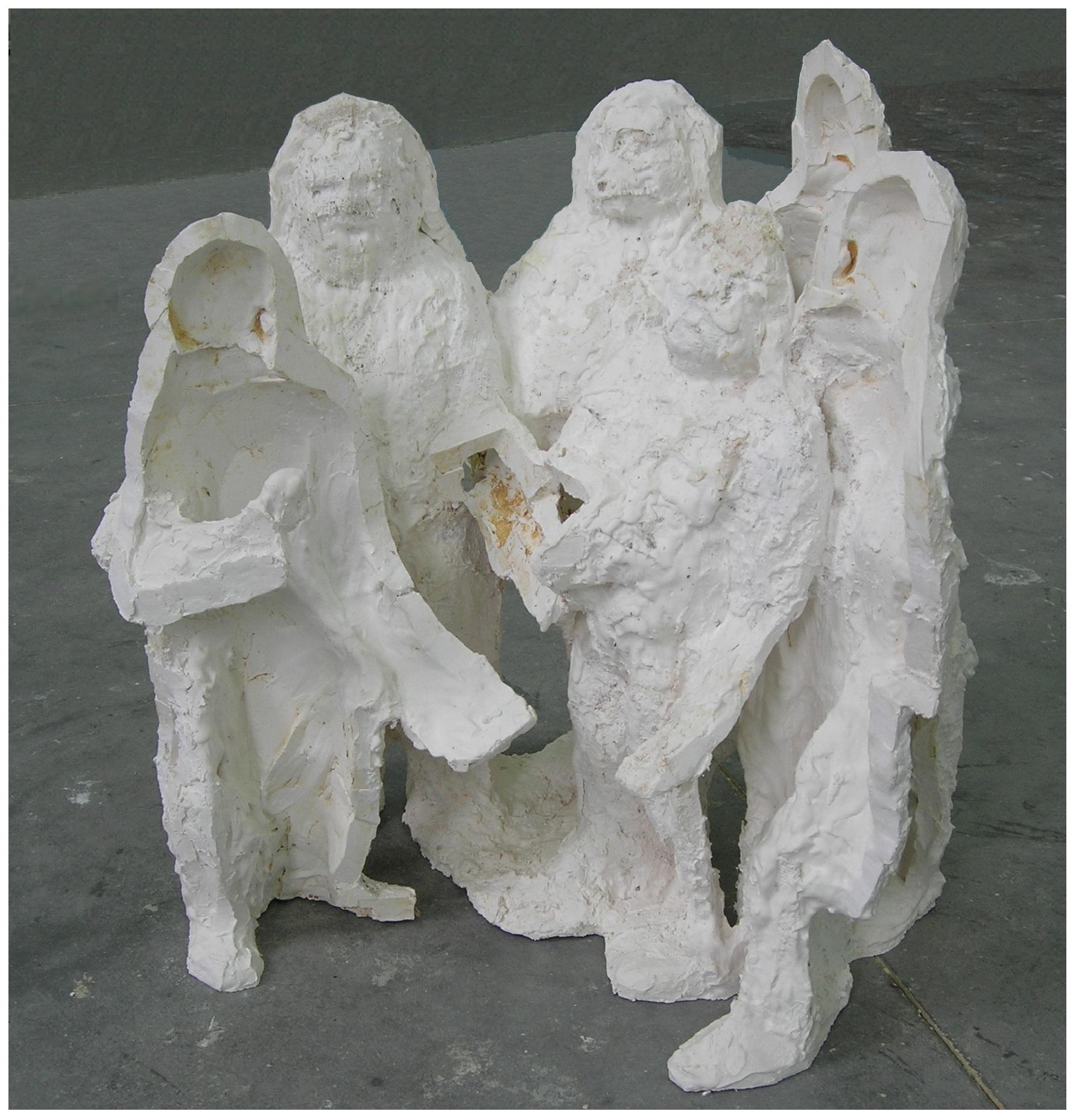 700 Mannenkoor – beeldhouwwerk – gips