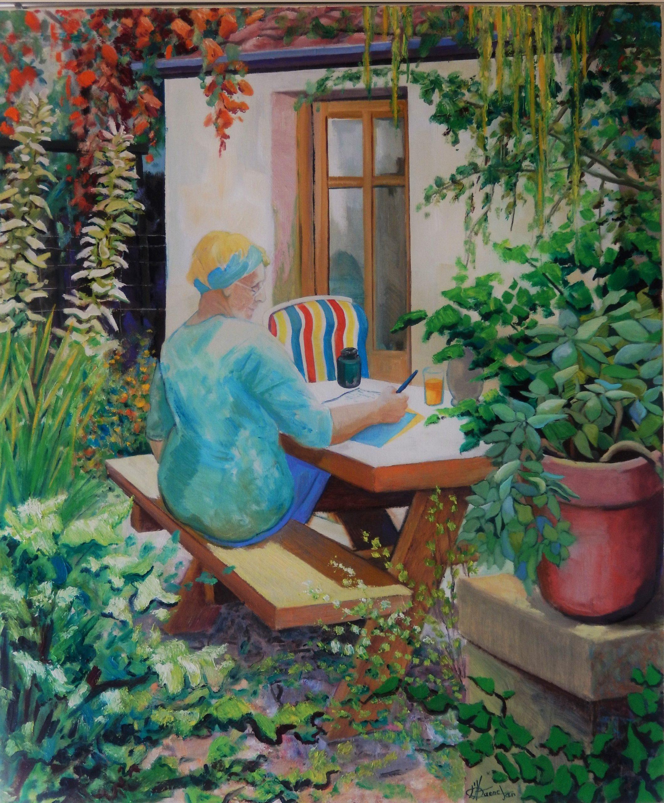 772 Elly in de tuin (st Gauzens)