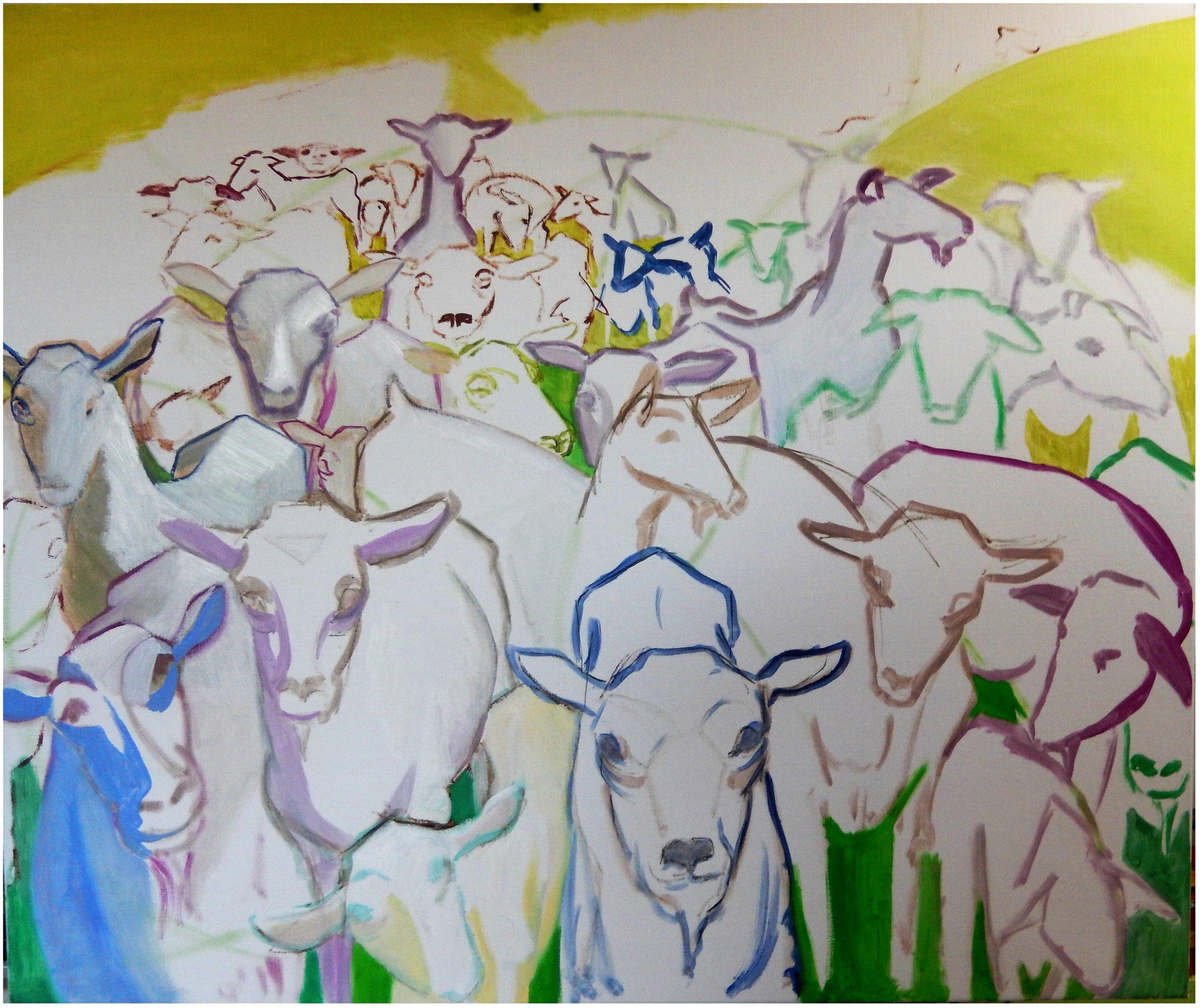 774 Herderin met kudde geiten 1