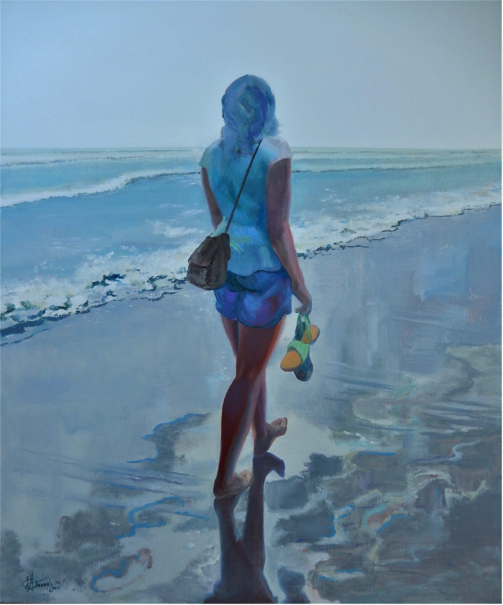 786 eenzaam kuieren op het strand