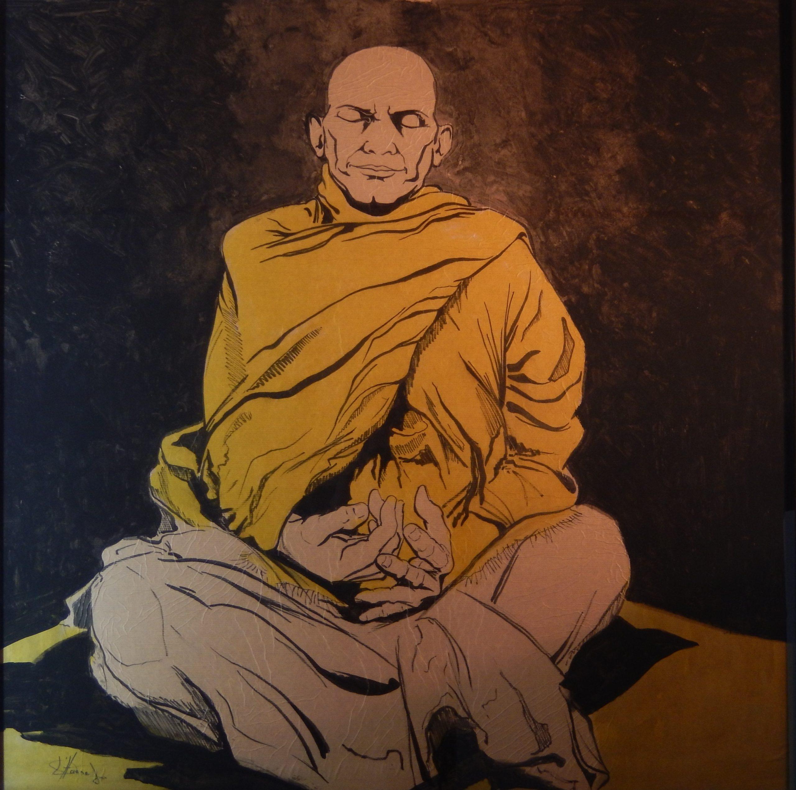 789 Mediterende monnik
